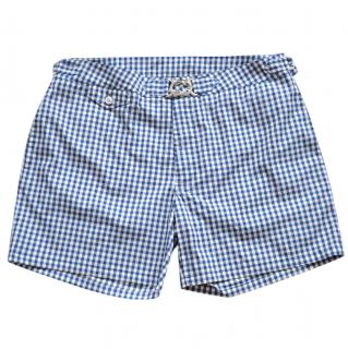 Ralph Lauren Purple Label check swim shorts