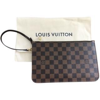 Louis Vuitton Neverfull damier wrist pochette