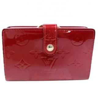 Louis Vuitton French Wallet Red Vernis