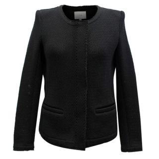 Iro Black Open Knit Mesh Jacket
