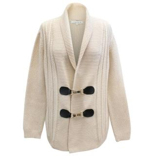 Sandro Women's Beige Knitted Cardigan
