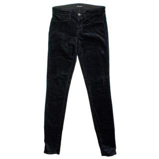 J Brand Black Velvet Skinny Jeans