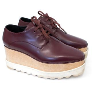 Stella McCartney Burgundy Elyse Platform Derby Shoes