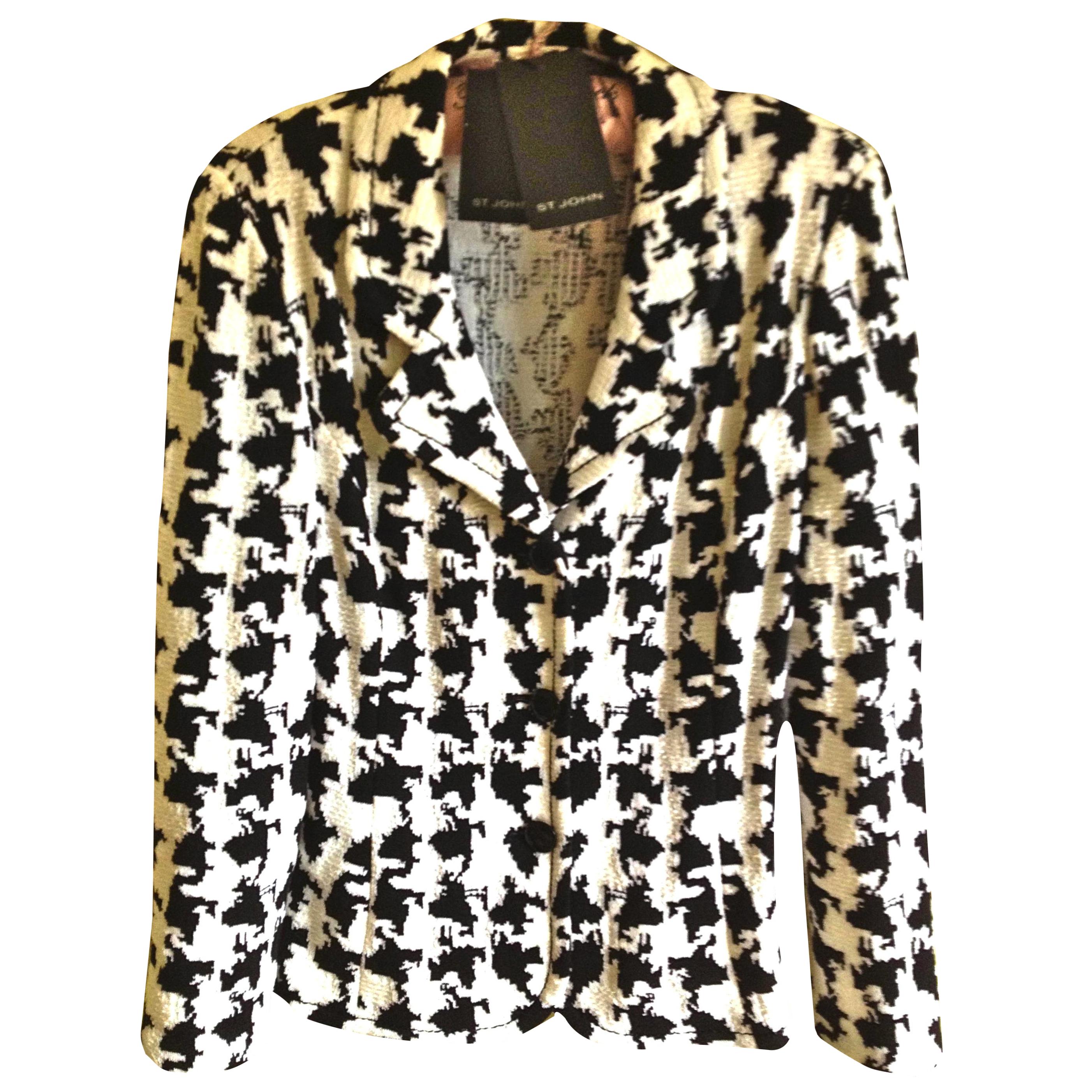 St. John black and white jacket