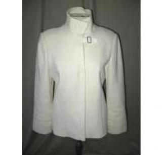 Jil Sander Womens Cream Virgin Wool Coat