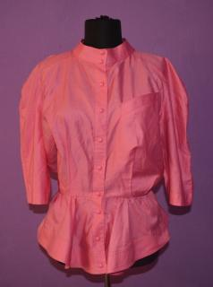 THIERRY MUGLER vintage womens vibrant pink blouse jacket sz M