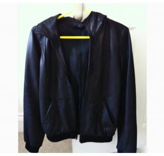 Fitted Marc Jacobs Leather Hoodie