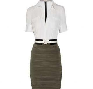 Alice+Olivia Maddie Two-Tone Shirt Dress