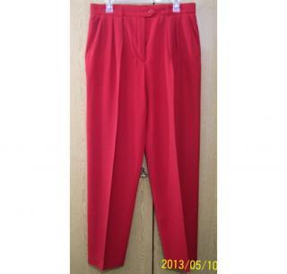 Escada Margaretha Ley red wool trouser