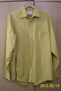 YSL Yves Saint Laurent Long Sleeve Yellow  Shirt