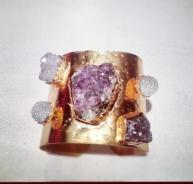 NK Assouline    -Gold Plated and Amethyst cuff
