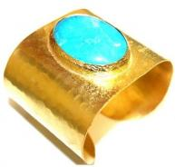 Turquoise and Gold Plated cuff