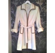 Valentino white overdress coat