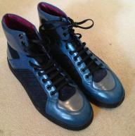New Bally Leather High Top Sneakers