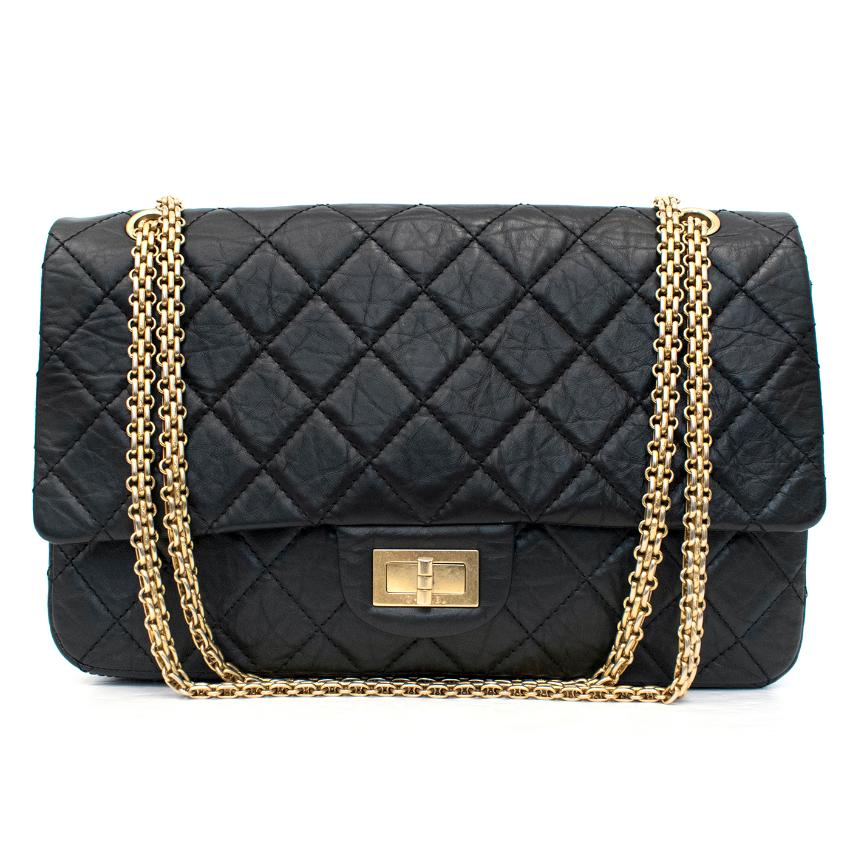 Chanel 2.55 Reissue Black Double Flap Bag