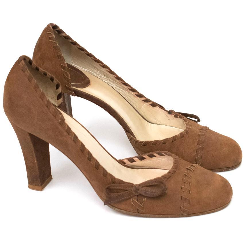 Dior Brown Weave Heels