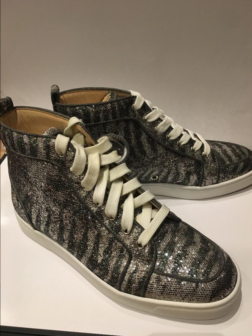 online retailer 47405 91953 Christian Louboutin Men's Animal Print Glitter Rantus Orlato Flat