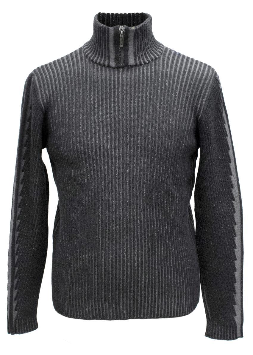 Versace Men's Grey Polo Neck Jumper