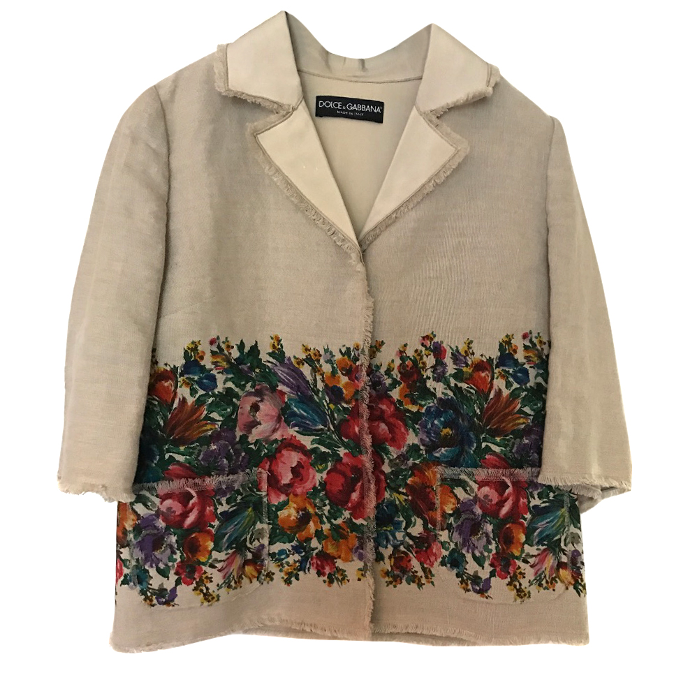 Dolce and Gabbana linen jacket