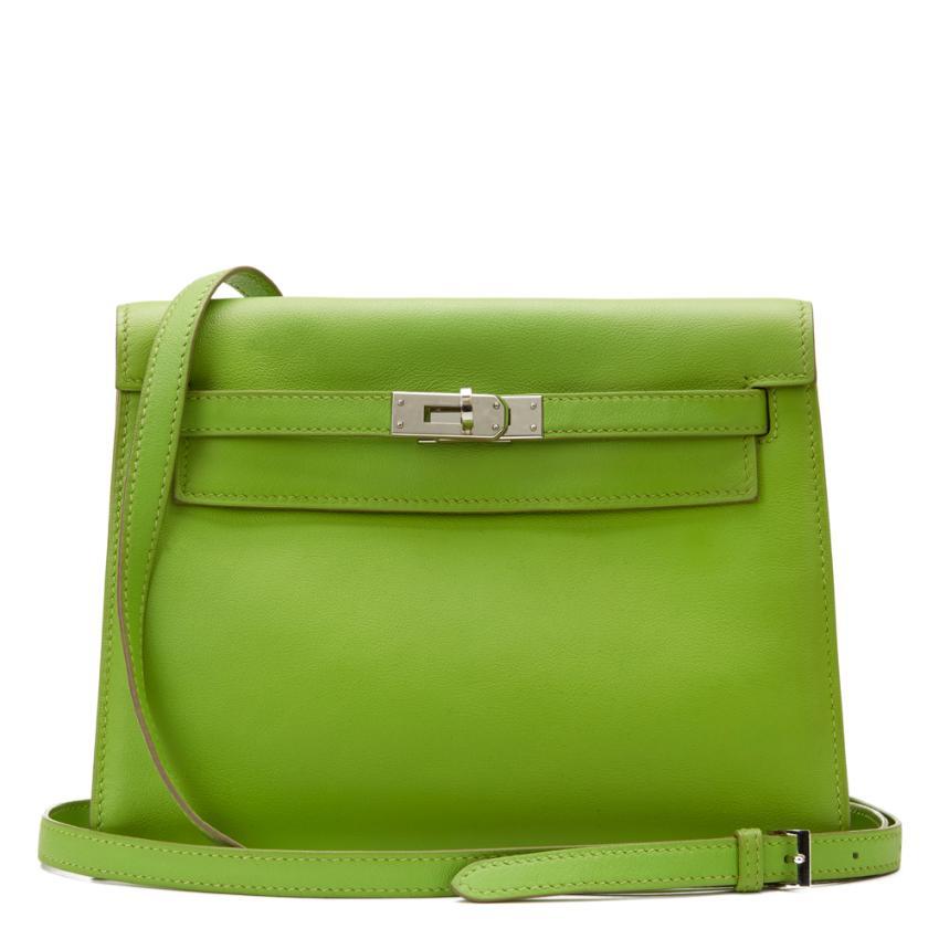 7ec30f098887 Hermes Green Kelly Danse Bag