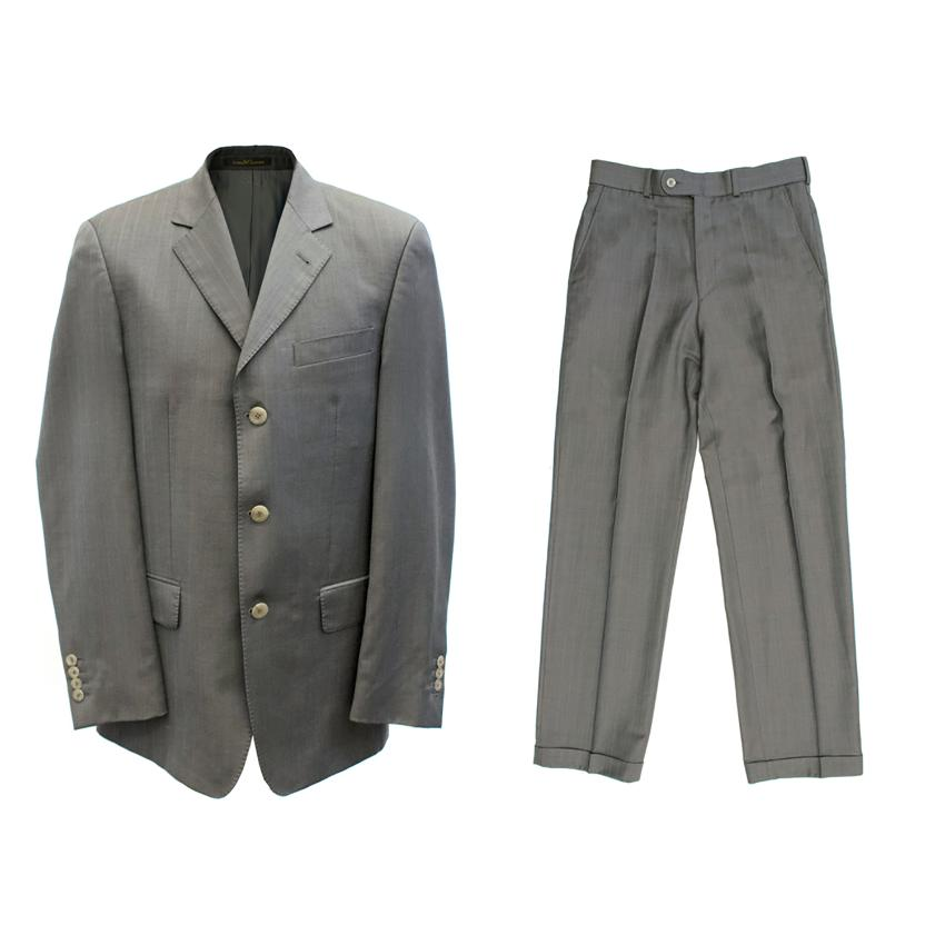 Slava Zaitsev Men's Grey Pinstripe Suit