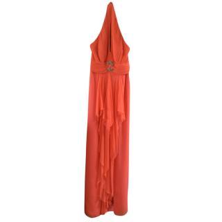 Mikael Aghal full length chiffon dress
