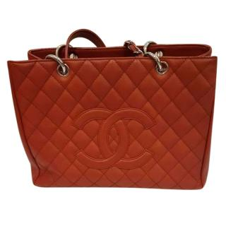Chanel GST in red brick caviar leather