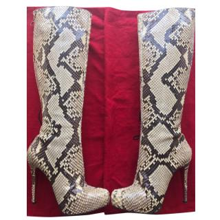 Chistian Louboutin Python Boots