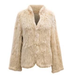 Ducie Beige Rabbit Fur Coat