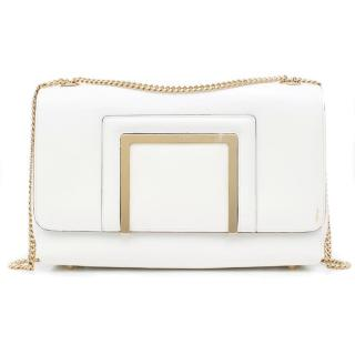 Jimmy Choo White Flap Bag
