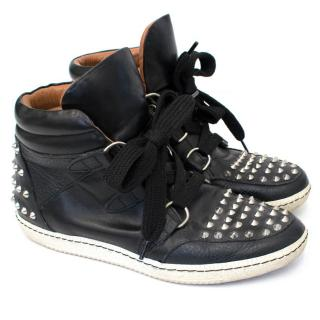 Sandro Black Albatorock Studded High Top Trainers