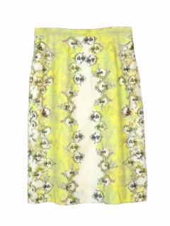 Erdem silk green/yellow multicolour skirt