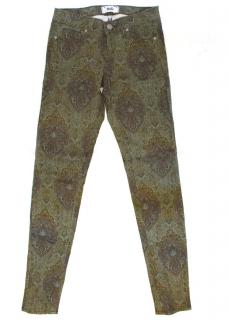 Paige Green Paisley Jeans