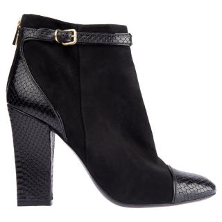 Tory Burch Suede/Leather Ankle Boots