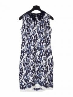 Erdem silk petal lace crepe dress