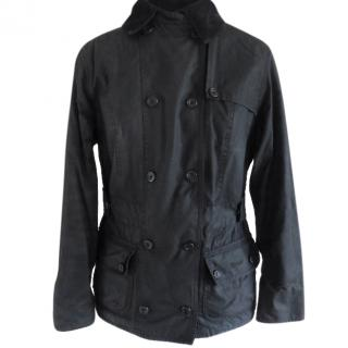 Barbour Double Breasted Waxed Jacket