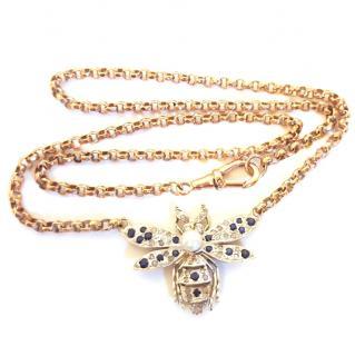 Vintage Revival Victorian Bug Necklace