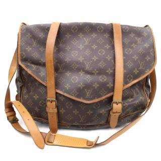 Louis Vuitton  Saumur 43 Brown Monogram Shoulder Bag 10467