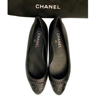 Chanel leather ballerinas