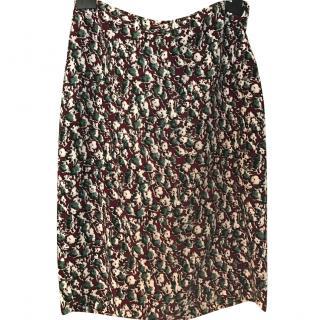 Marni midi floral skirt