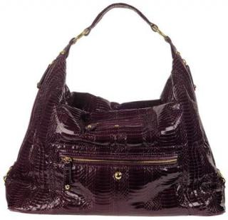 Tod's Brown Python Pashmy Sacca Large Hobo Bag