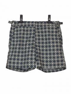 Orlebar Brown Bulldog grey printed shorts