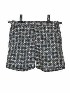 Orlebar Brown Bulldog grey printed shorts