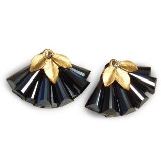 Semi precious Deco style earrings