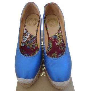 Penelope Chilvers blue wedge espadrilles