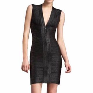 Herve Leger Foil Print Bandage Dress