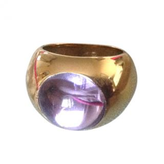 Lalique lilac crystal ring