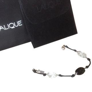 Lalique crystal knotted bracelet