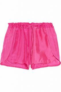 Tara Matthews Silk Shorts Size XS Hot Pink