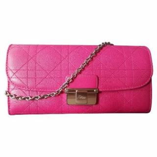 Diorling Rose royale rendez vous chain clutch wallet